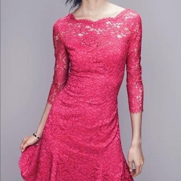 Eliza J Dresses & Skirts - 💕NWT💕 Eliza J Pink Lace Fit & Flare Dress